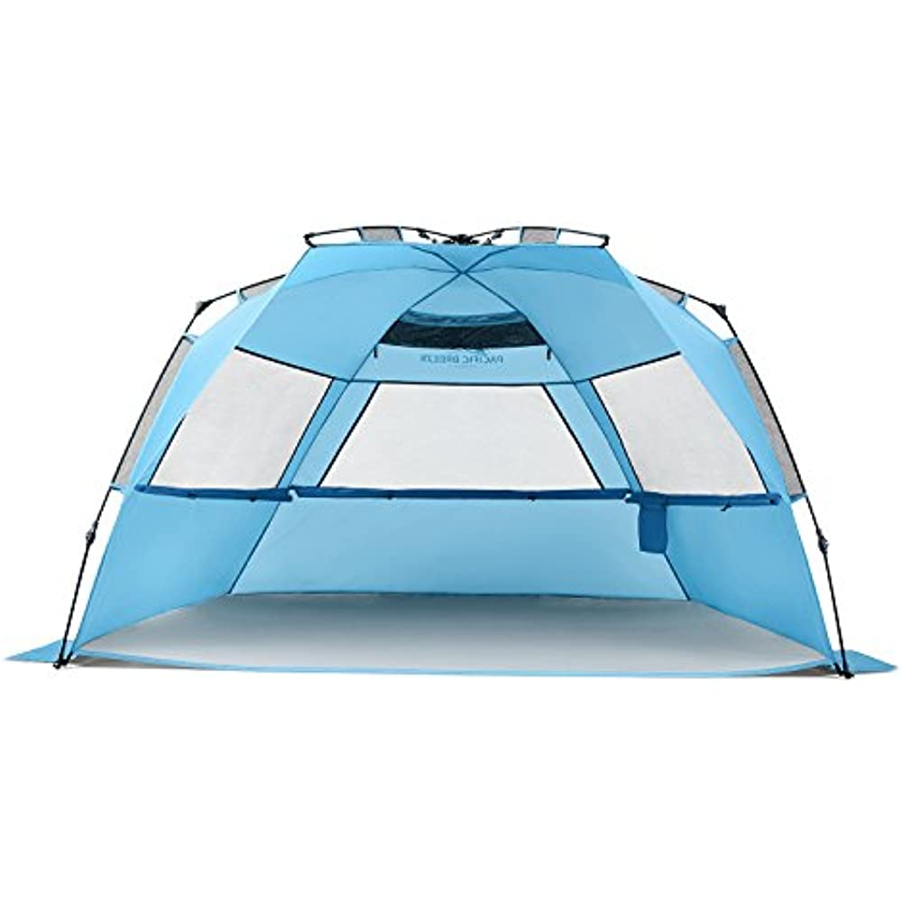 Sun Shelters Pacific Breeze Easy Up Beach Tent Deluxe Xl