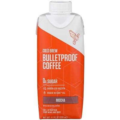 Bulletproof Coffee Cold Brew Unsweetened, Mocha, 11.1 fl oz (Pack of 6) by Bulletproof