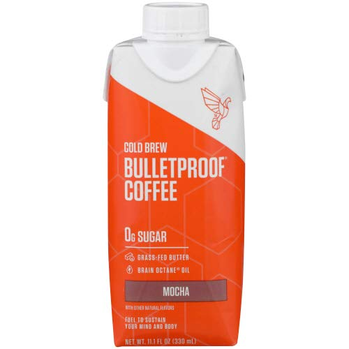 Bulletproof Coffee Cold Brew Unsweetened, Mocha, 11.1 fl oz (Pack of 6)