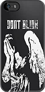SUUER Dr Who -Don't Blink Crying Angel Design Custom Hard CASE for iPhone 5 5s case -Black CASE