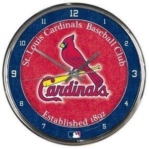 St. Louis Cardinals Round Chrome Wall - Cardinals Wall Clock Round