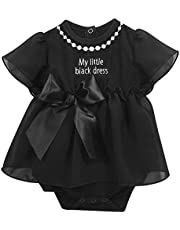Stephan Baby My First Little Black Party Dress Ruffle-skirted Diaper Cover, 3-6 Months