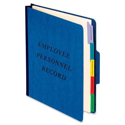 Wholesale CASE of 15 - Esselte Pendaflex Employee/Personnel Folders-Personnel Folder,20 Pt.,2'' Exp., Preprinted Divider,Blue
