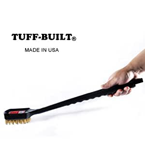 Tuff-Built Grill Brush for CharcoaL, Gas, Electric And Infrared Outdoor BBQ Grill