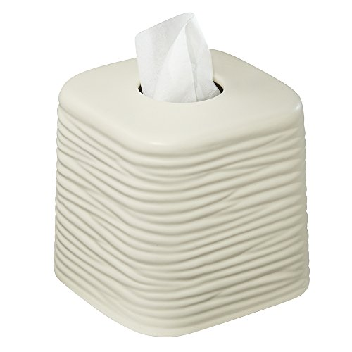 Mdesign Decorative Square Facial Tissue Box Cover Holder For Bathroom Vanity Counter Tops
