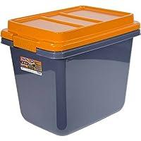 Hefty HI-RISE Heavy Duty Storage Bins 32 Qt. Latch Storage Box (Orange/Gray)