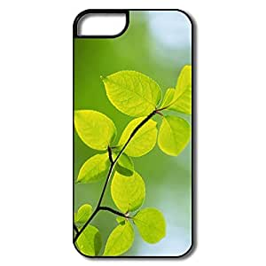 IPhone 5/5S Case, Branch Green Leaves White/black Cases For IPhone 5 5S by icecream design