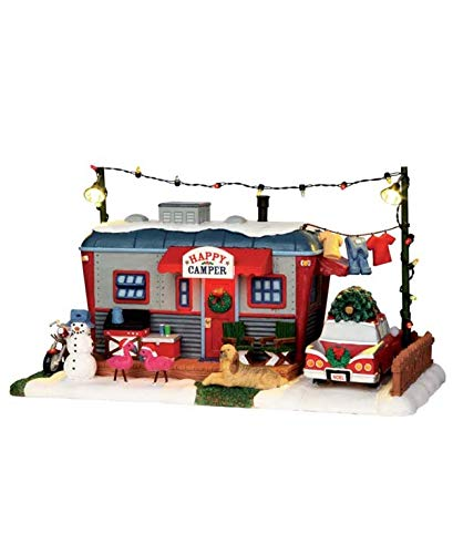 Lemax 1 64060 Happy Camper Village Building, Multicolored, Red by Lemax