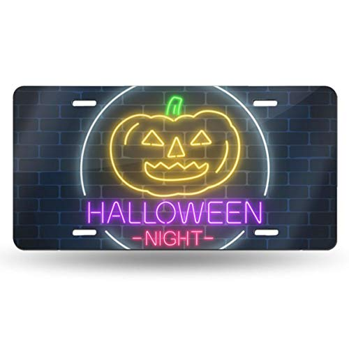Glowing Neon Sign Of Halloween Invitation Banner Anti Theft License Plate Vintage Colorado State And 50 State License Plate Custom Antique CO Auto Tag Retro Replica Any Text! Personalized Plate Sign