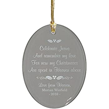 giftsforyounow christmas in heaven personalized memorial ornament