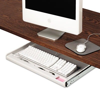 Alera Innovera 53000 Standard Underdesk Keyboard Drawer, 21 3/8'' w x 12 7/8'' d, Light Gray by Alera