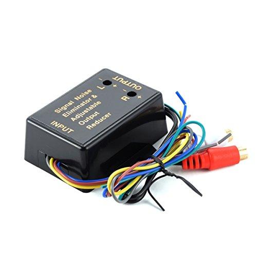 YONGYAO 2/canales HI//Low Level Converter salida altavoz de alto nivel de Linea RCA Adaptador de nivel