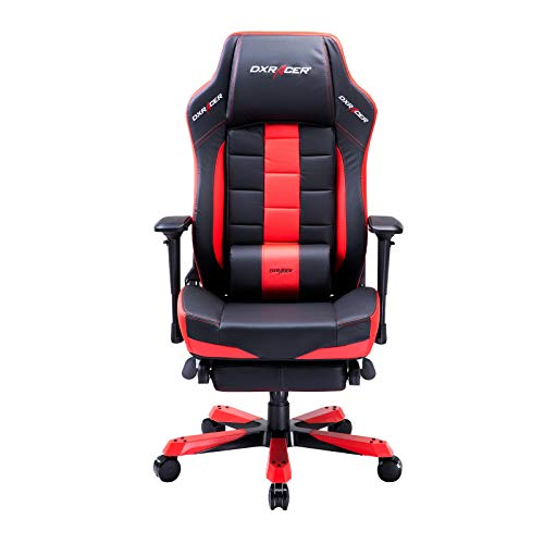 DXRacer USA Classic Series OH/CA120/NR Gaming Chair Computer Chair Office Chair with Footrest, Ergonomic Design, Swivel Tilt Recline, Adjustable with Tilt & Angle Lock, Includes Lumbar Cushion (Red)