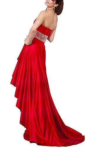 George Rojo Mangas Sin Bride Mujer Para Trapecio Vestido rqvrw1S