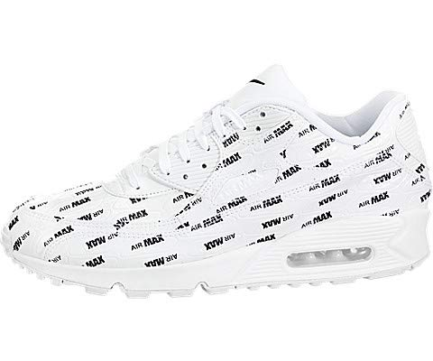 3fc431477abe Nike Men s Air Max 90 Premium White Black 700155-103 (Size  8.5)