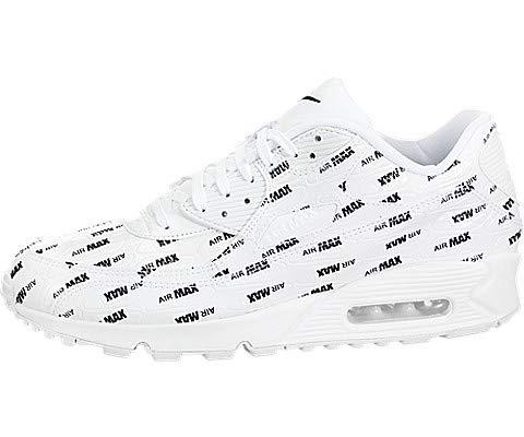 Nike Men's Air Max 90 Premium White/Black 700155-103 (Size: 8.5)