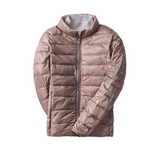 Fit Jacket Down Stand Light Outdoor Coat Short Khaki Slim Women Casual Collar Padded Weight Ultra Packable qwfnPg8