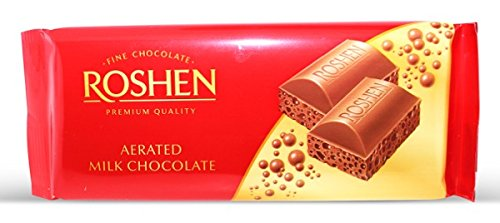 Roshen, Milk Aerated Extra Chocolate 100gr Bar (4 pcs)