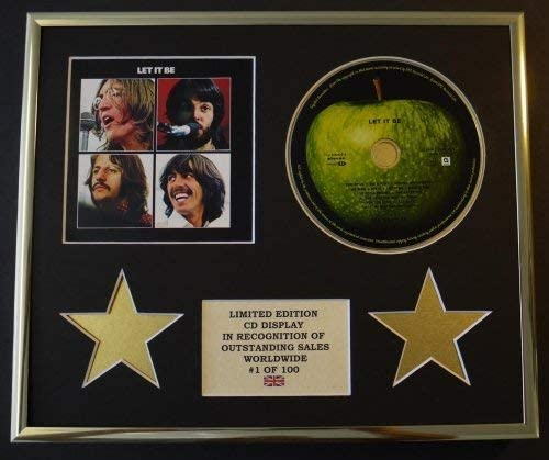 The Beatles Cd Display Limited Edition Coa Let It Be