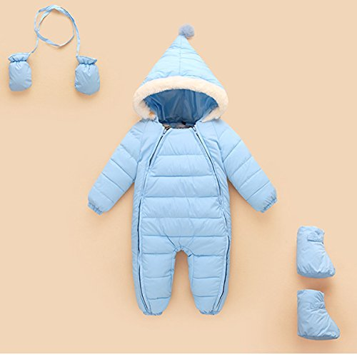 Thick Romper 6 Jacket Baby Puffer Jumpsuit Happy Snowsuit Months Outerwear Down Warm Cherry 48 Blue Hooded Winter Sky OHqEzzRxw