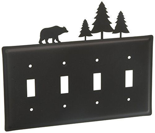 - 8.25 Inch Bear/Pine Quadruple Switch Cover