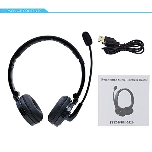 - Bluetooth 4.1 Stereo Noise Cancelling Boom Mic Headset Headphone For Trucker PS3