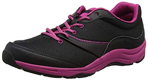 Vionic Women's Action Kona Lace-up Walking Fitness Shoes - Ladies Sneakers with Concealed Orthotic Support, Black, 5 WIDE US