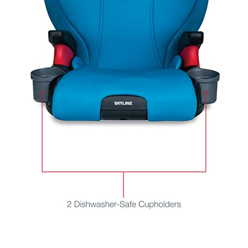 41iowh2cYTL - Britax Skyline 2-Stage Belt-Positioning Booster Car Seat - Highback And Backless | 2 Layer Impact Protection - 40 To 120 Pounds, Teal