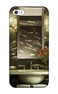 Ultra Slim Fit Hard ZippyDoritEduard Case Cover Specially Made For Iphone 5/5s- Powder Room With De Gournay And Brass Accents