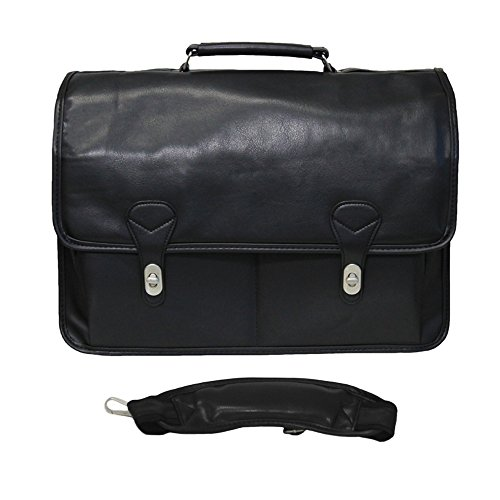 World Traveler Doctor Flap-Over Computer Briefcase, Black, One Size (Flap Over Computer Briefcase)