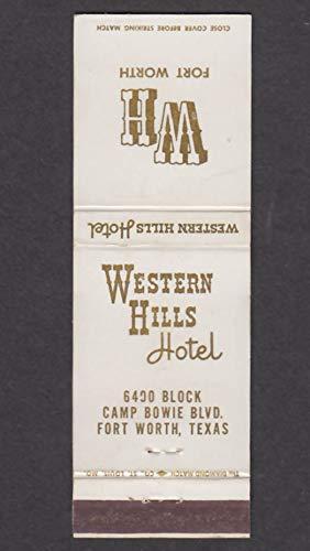 Western Hills Hotel 6400 Block Camp Bowie Blvd Fort Worth TX matchcover
