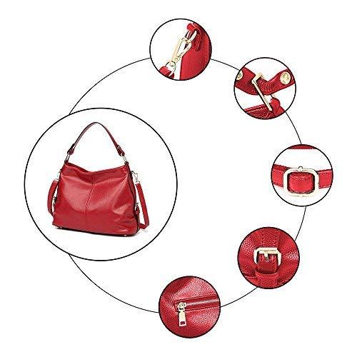 Mujer Bolsos de mano Bolsos totes Bolsos bandolera Bolsa de playa cuero bolso de hombro bolso señoras para las señoras del negocio / Viajar / trabajar-Roja