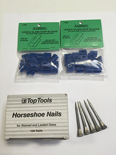 Horseshoe Nails (100 nails) & Lead & Glass Stop Blocks (2 bags)