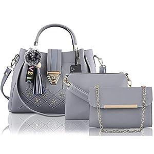 Best handbag ladies Le Platinum Latest Trendy Fashion Clutch Combo 3pcs Purse Set