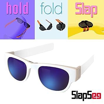 SlapSee PRO Gafas de sol con lentes polarizadas (Negro Negro Azul): Amazon.es: Deportes y aire libre