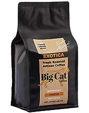 Boost Foodz - Big Cat Coffee - Exotica - Artisan Fresh Roasted - Whole Beans - Gourmet Ethiopian - Medium Roast - African Style - 100% Arabica Coffee - 500g Bag - Australian Made