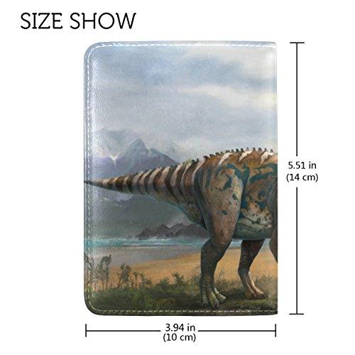 Copertina Del Passaporto In Pelle Di Dinosauro Coosun Per Una Tasca