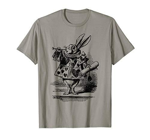 (Alice in Wonderland White Rabbit Tshirt T-Shirt)