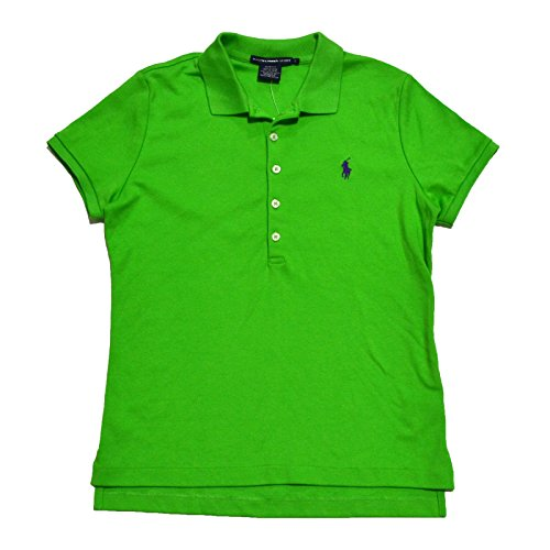 Ralph Lauren Sport Womens Slim Fit Interlock Polo Shirt (Active Green, Large)