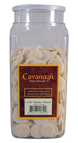 "Cavanagh Altar Bread - 1 1/8"" Whole Wheat - 1000/Container"