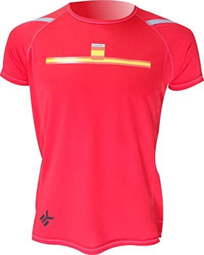 EKEKO SPORT Camiseta ESPAÑA Manga Corta DE Running, Padel, Senderismo, Tenis,Color Rojo: Amazon.es: Deportes y aire libre