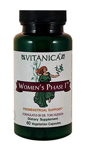 Vitanica Womens Phase I, Premenstrual Support, Vegan, 60 Capsules