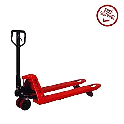 "Manual Hydraulic Extra Pallet Jack lift range 29"" to 74"" 27""x48"" L forks 7700"