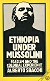 Ethiopia under Mussolini : Fascism and The Colonial Experience, Sbacchi, Alberto, 0862322545