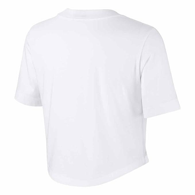 41f8cff37b4012 Nike NSW Crop Women s T-Shirt White AJ3765100 (S)  Amazon.co.uk  Clothing