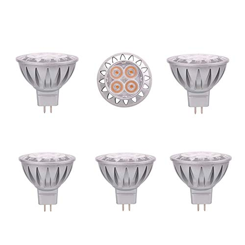 Low Voltage Halogen Shower - MR16 2700K LED Warm White Spot Light Bulb 5W 38°Beam Angle GU5.3 Base, AC/DC 12V Low Voltage, 35W Halogen Replacement, 6-Pack