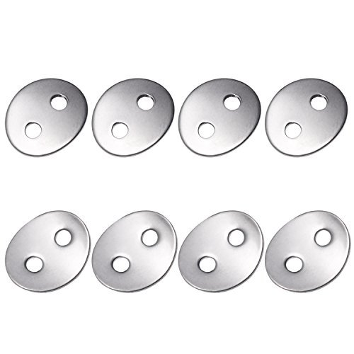 Canomo 24pcs 2.3mm Holes Stainless Steel Button Snaps Bracelet Clasps for necklaces, rings, bracelet and Jewelry, - Clasp Material
