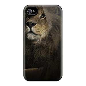 Slim Fit Tpu Protector Shock Absorbent Bumper Lion Case For Iphone 4/4s