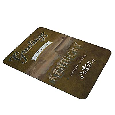 Kentucky Greetings - Decorative Carving Board Textured Glass Cutting Board