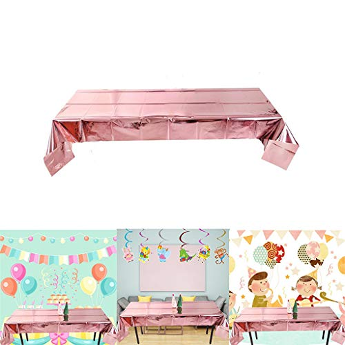 Motop Rose Gold Sequin Fabric Tablecloth Disposable Sequin Panels Party Baby Shower Reception Tablecloth 20Ps,Indoor Outdoor Spillproof Tablecloth for Spring/Summer/Party/Picnic, 39